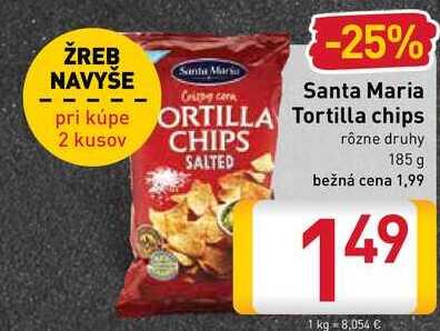 Santa Maria Tortilla chips 185 g