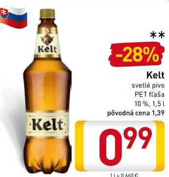 Kelt Svetlé  pivo 1,5 l