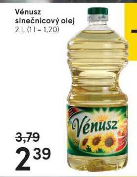 Vénusz slnečnicový olej, 2 l