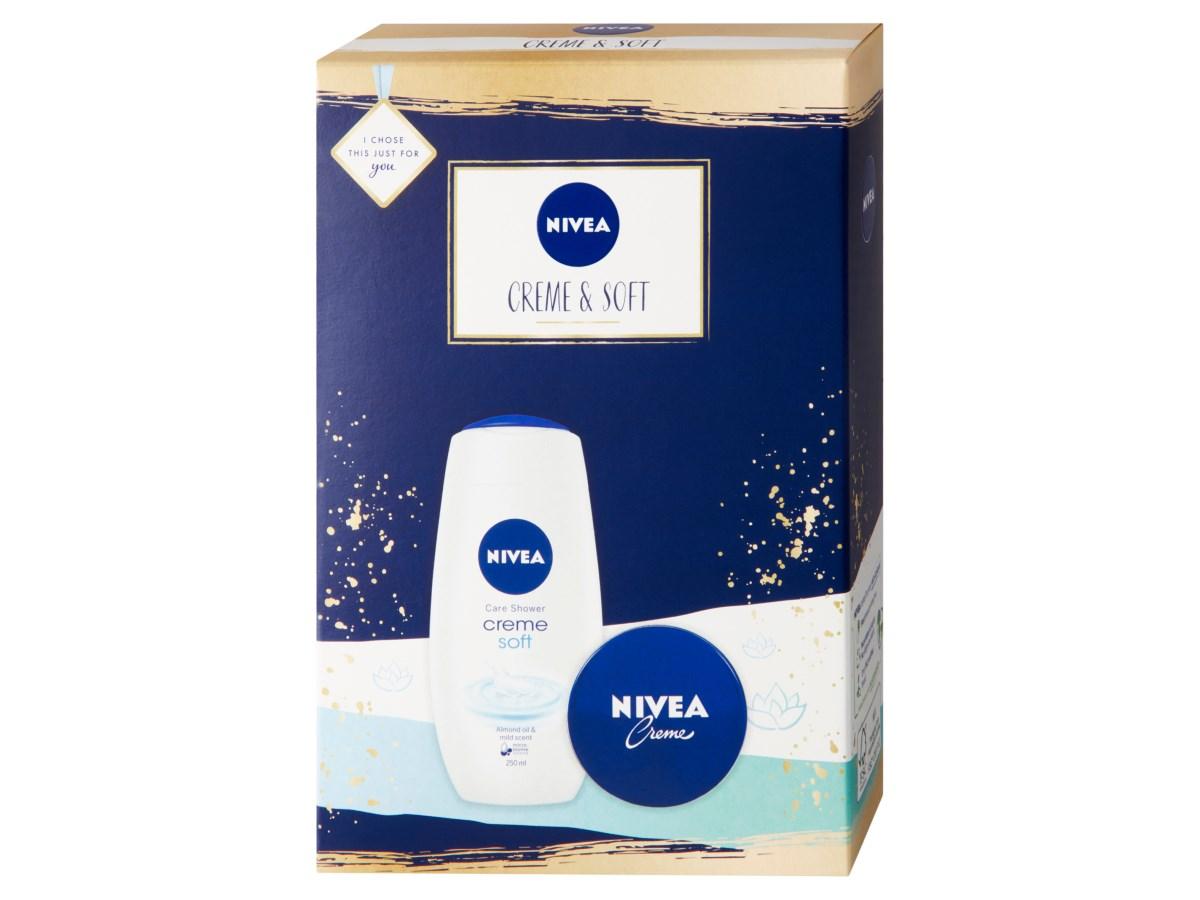 Nivea Creme & Soft spchový gél 250ml + krém 75 ml