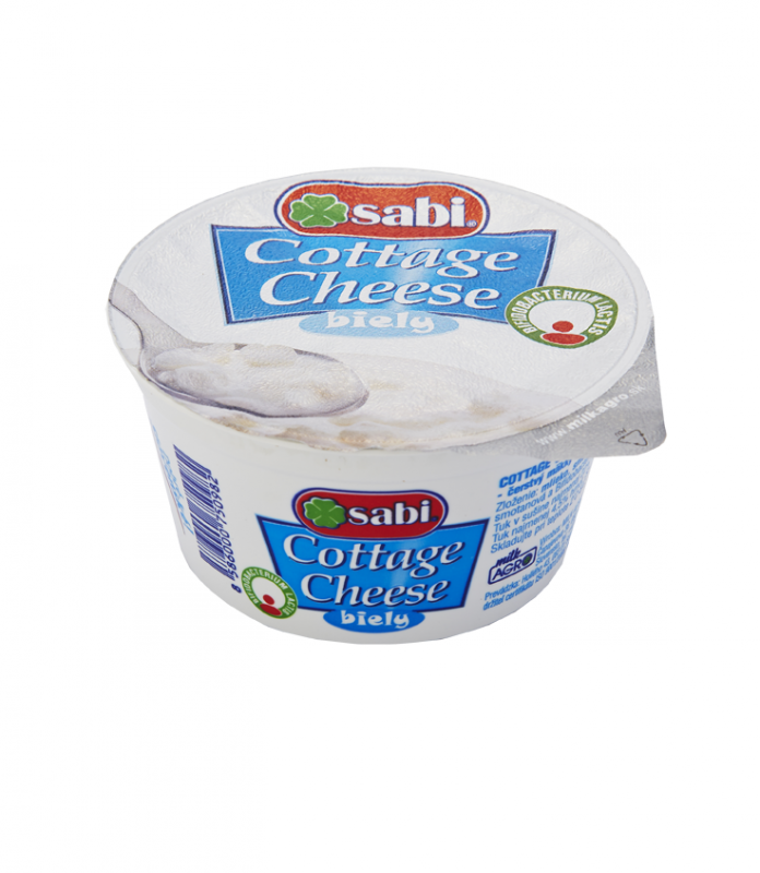 Cottage cheese biely