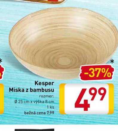 Kesper Miska z bambusu 1 ks