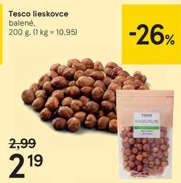 Tesco lieskovce, 200 g