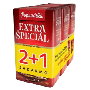 Káva Extra špeciál, 250 g, 2+1