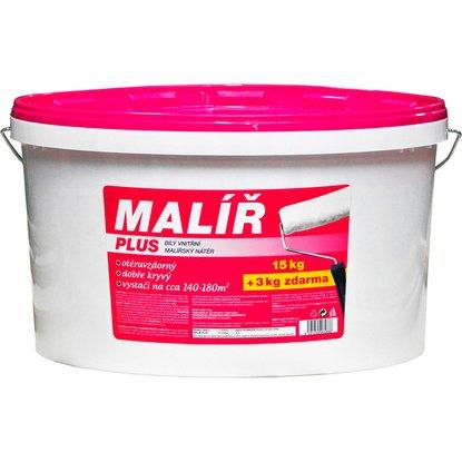 Maliar Plus maliarsky náter 15 kg + 3 kg biely