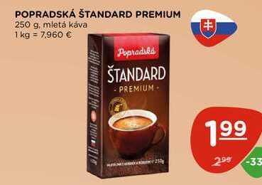 POPRADSKÁ ŠTANDARD PREMIUM 250 g