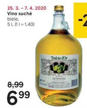 Víno suché, 5 l