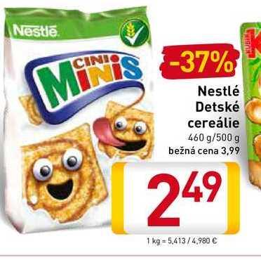 Nestlé Detské cereálie 460-500 g