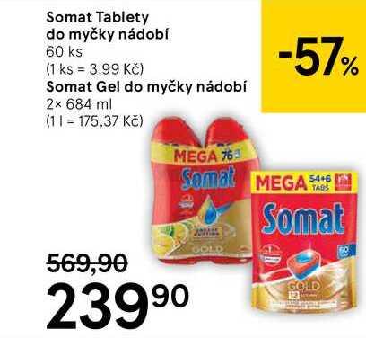 Somat Tablety do myčky nádobí, 60 ks