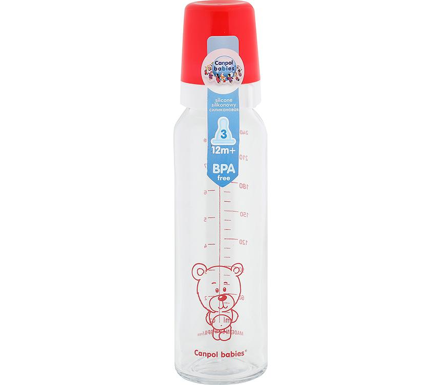 Dojčenská sklenená fľaša