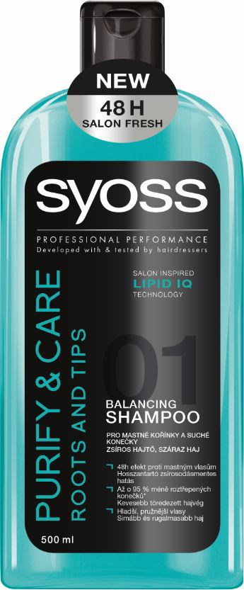 Syoss Purify&Care šampón na vlasy 1x500 ml