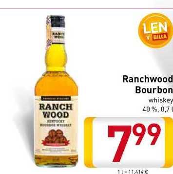 Ranchwood Bourbon  0,7 l