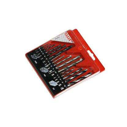 Kazeta s vrtákmi na drevo kameň kov, 16dielna
