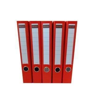 Šanón/zakladač A4/5cm pákový červený SIGMA 5ks