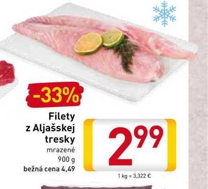 Filety a Aljašskej tresky900 g