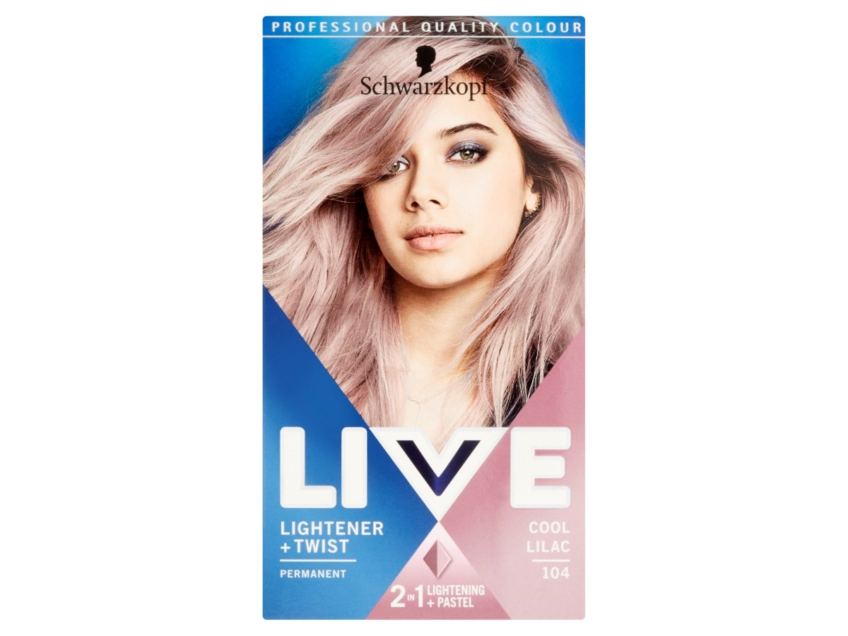 Schwarzkopf Live Lightener + Twist 104 chladná lilac farba na vlasy 1x1 ks
