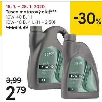 Tesco motorový olej