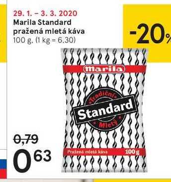 Marila Standard pražená mletá káva, 100 g