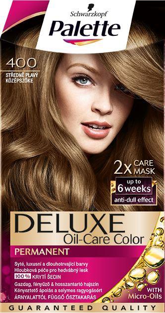 Palette Deluxe 400 stredneplavá farba na vlasy 1x1 ks