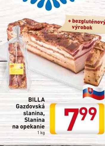 Billa Gazdovská slanina 1 kg