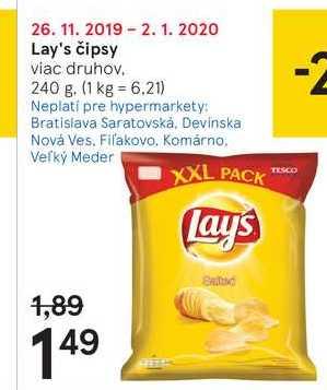 Lay's čipsy, 240 g