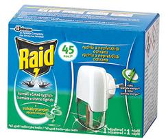 Raid elektrický tekutý odparovač + tekutá náplň na 45 nocí