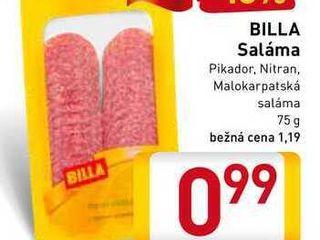 BILLA Saláma  75 g