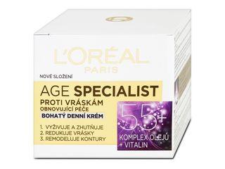 L'Oréal Age Specialist denný krém proti vráskam 55+ 1x50 ml