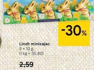 Lindt minizajac, 5 x 10 g