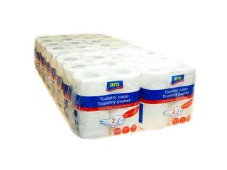 Obrázok ARO Toaletný papier biely 2-vrstvový 32m 16x4 ks