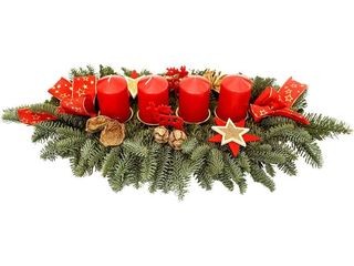 obrázek Adventní svícen 4 svíčky50cm