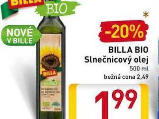 BILLA BIO Slnečnicový olej 500 ml