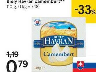 Biely Havran camembert, 110 g