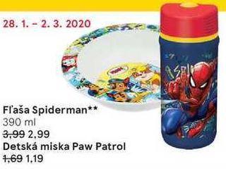 Fľaša Spiderman