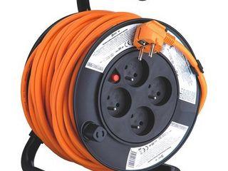 Obrázok Emos PVC predlžovací kábel na bubne 4 zásuvky 25 m