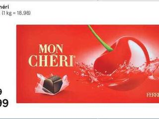 Obrázok Mon cheri, 157,5 g