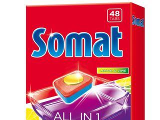 Somat All in 1 lemon&lime tablety do umývačky riadu 1x48 ks