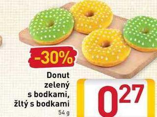 Obrázok Donut zelený s bodkami, žltý s bodkami  54 g