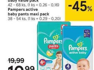 Obrázok  Pampers active baby value pack