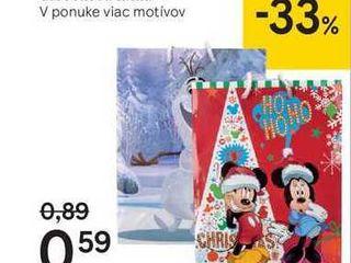 Disney vianočná darčeková taška