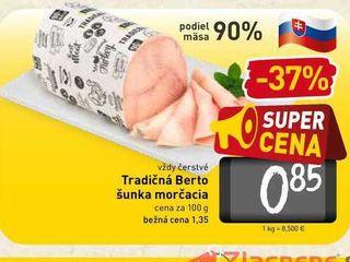 Tradičná Berto šunka morčacia  100 g