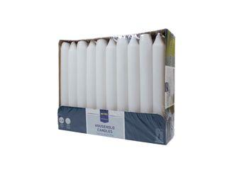 Sviečka biela 2x18cm Metro Professional 30ks