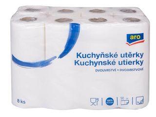 ARO Kuchynské utierky 2-vrstvové 1x8 ks