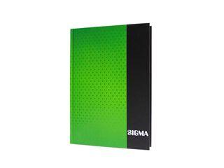 Záznamová kniha linajková A5 80 listov zelená Sigma 1 ks