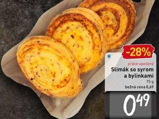 Obrázok  Slimák so syrom a bilinkami 75 g
