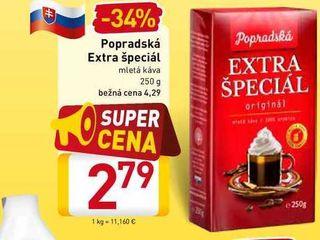 Popradské Extra špeciál mletá káva 250 g