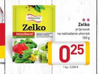 Zelko pripravok na nakladanie uhoriek 100 g
