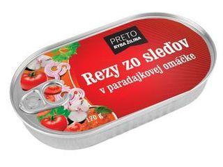 Obrázok Rezy zo sleďov v paradajkovej omáčke 170 g