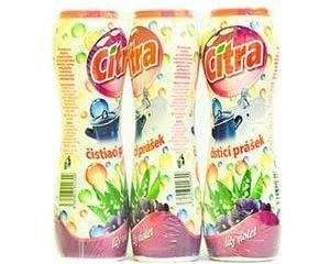 Citra práškový čistič s vôňou kvetín 3x400 g
