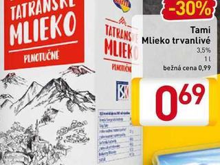 Tami Trvanlivé mlieko 1 l